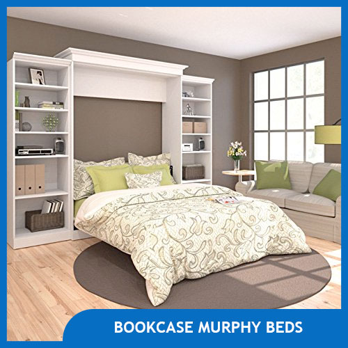 Bookcase Murphy Beds to Save Space