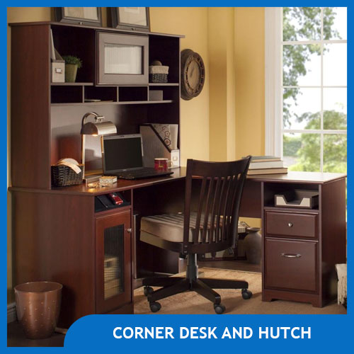Corner Desks with Hutch for Writers and Home Offices