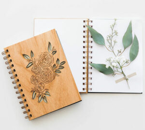 Lasercut Wood Journals for Writers