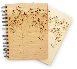 Lasercut Wood Journal Gifts for Writers