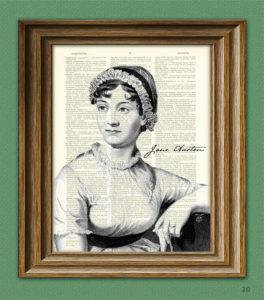 Jane Austen Dictionary Print Gift Idea