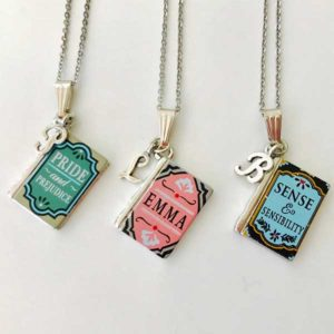 Jane Austen Book Necklace