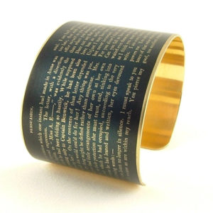 Persuasion Quote Cuff Bracelet - Gifts for Jane Austen Fans