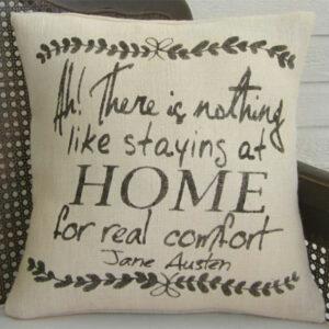 Jane Austen Quote Pillow Gift