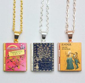 Jane Austen Book Lockets