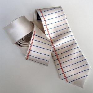 Lined Paper Necktie Writer Gift