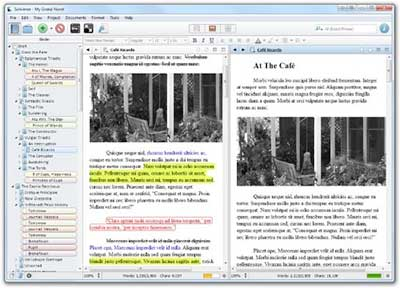 scrivener writing software