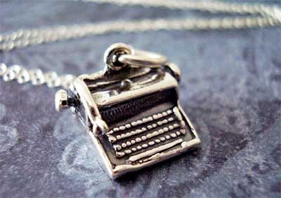 Typewriter Necklace Gift for Writers