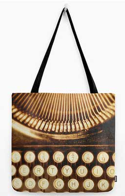 typewriter-tote-bag