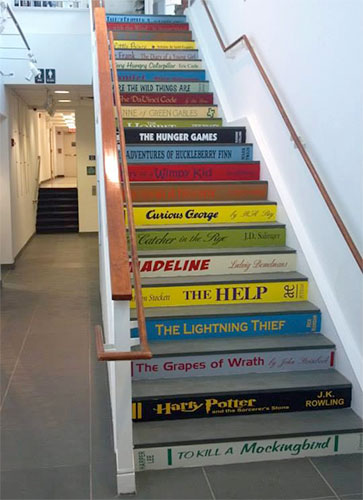 Book Decals for Stairs and Steps