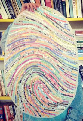 Custom Fingerprint Book Lover Art