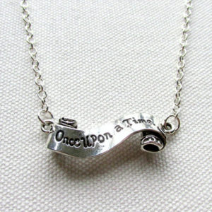 """Once Upon a Time..."" Necklace Gift for Readers"