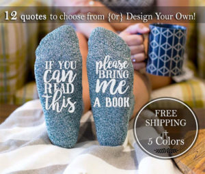Book Lover's Slipper Socks Gifts for Readers