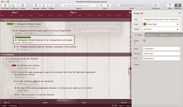 Aeon Timeline Software for Writers