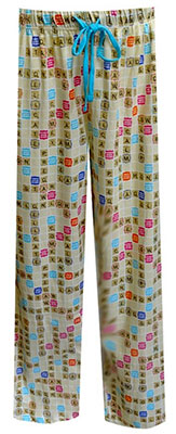 Scrabble Board Lounge Pants