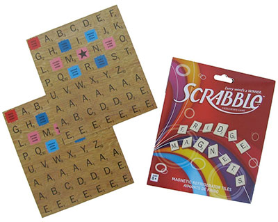 Scrabble Refrigerator Magnet Game Set