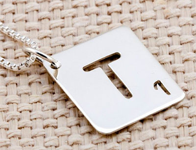 Scrabble Letter Tile Pendant Necklace