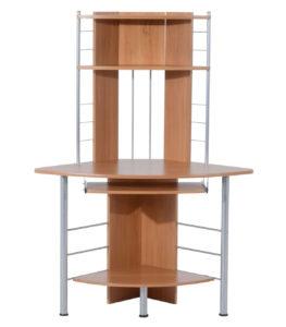 >HomCom Arch Tower Corner Desks with Hutch