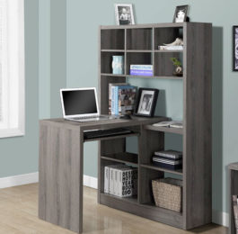 Monarch Specialties Corner Desk with Shelves