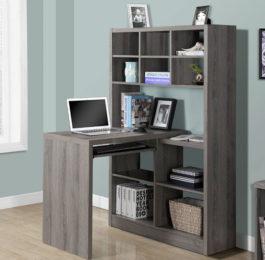 Monarch Specialties Corner Desk with Shelves
