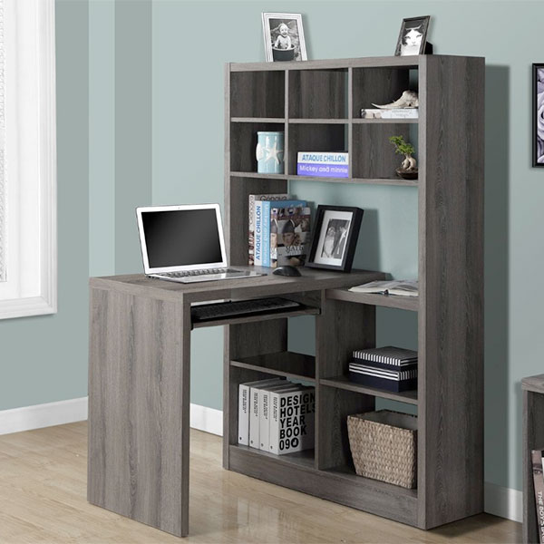 corner desks with hutch for writers and home offices gift ideas for writers. Black Bedroom Furniture Sets. Home Design Ideas