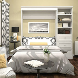 Bestar Pull Down Bed with Shelves and Drawers