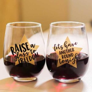 Hamilton Lyrics Stemless Wine Glasses