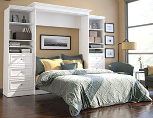 Queen Hide Away Bed with Shelves and Drawers