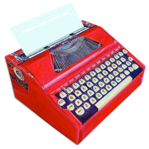 Typewriter Pop-up Note Paper