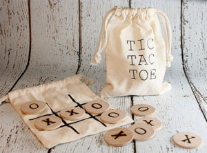 Wooden Tic-Tac-Toe Game Set