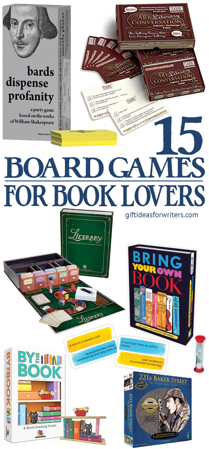 15 Board Games for Book Lovers Pin