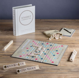 crabble Linen Book Vintage Edition Board Game