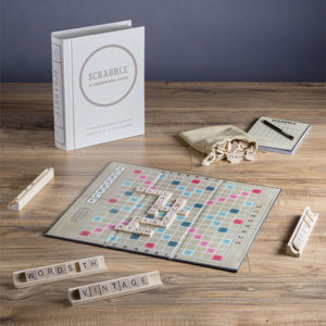 Scrabble Linen Book Vintage Edition Board Game