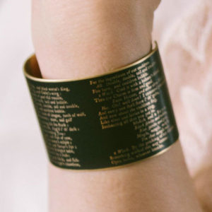 Macbeth Quote Cuff Bracelet
