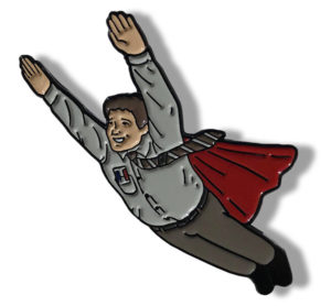 Bob Newby Superhero Enamel Pin Stranger Thing Gifts