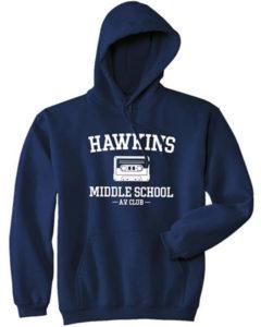 Hawkins Middle School AV Club Hoodie Stranger Things Gifts
