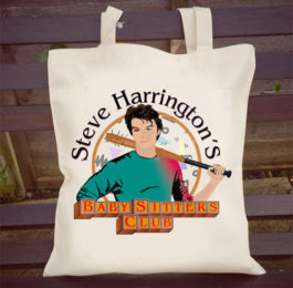 Steve Harrington's Baby Sitter's Club Tote Bag - Stranger Things Gifts