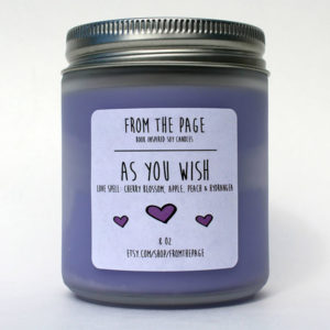 """As You Wish"" Princess Bride Inspired Soy Candle - Valentine's Day Gifts for Readers"