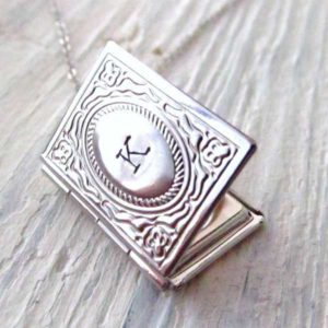 Book Locket Necklace for Valentine's Day