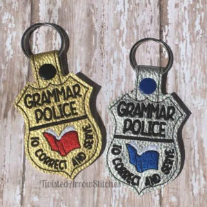 Grammar Police Keychain Gifts for Copywriters