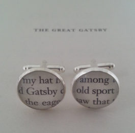 Great Gatsby Cufflinks Valentine's Day Gifts for Readers