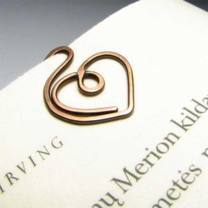 Heart Metal Bookmark Gift Valentine's Day