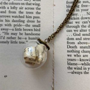 Love Story Literary Bauble Necklace