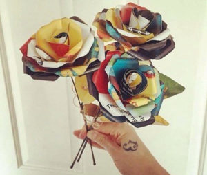 Recycled Book Roses - Valentine's Day Gifts for Readers