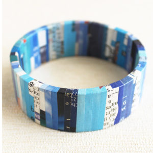 Melodic Newspaper Bracelet Gifts for Copywriters