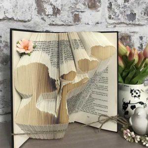 Romantic Folded Book Art