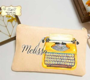 Personalized Typewriter Pouch