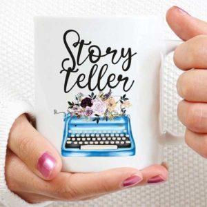 Story Teller Typewriter Mug Gifts for Writers