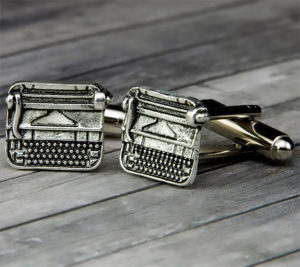 Typewriter Cufflinks for Writers