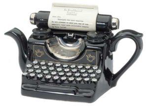 Typewriter Teapot Gift Idea